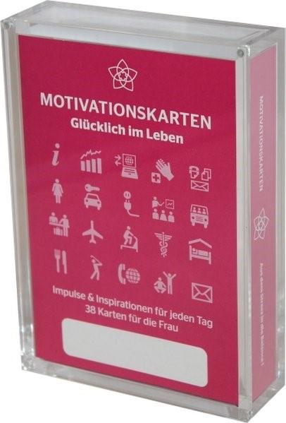 Glücklich im Leben - Motivationskartenset für Frauen als positive Impulsgeber zur Selbstfindung und Inspiration | Homolac / Bruckner, 2012 (Cover)
