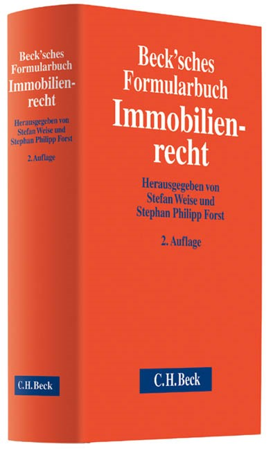 Beck'sches Formularbuch Immobilienrecht | 2., neubearbeitete Auflage, 2014 (Cover)