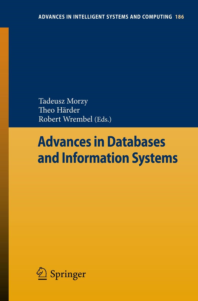 Advances in Databases and Information Systems | Morzy / Härder / Wrembel, 2012 | Buch (Cover)
