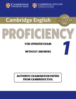 Abbildung von Cambridge English Proficiency 1 for Updated Exam Student's Book without Answers | 2012 | Authentic Examination Papers f...