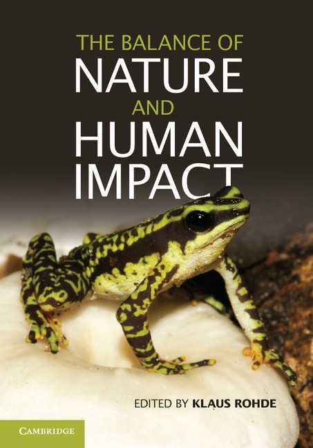 Abbildung von Rohde | The Balance of Nature and Human Impact | 2013