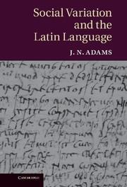 Abbildung von Adams | Social Variation and the Latin Language | 2013