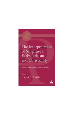 Abbildung von Evans | Interpretation of Scripture in Early Judaism and Christianity | 2004