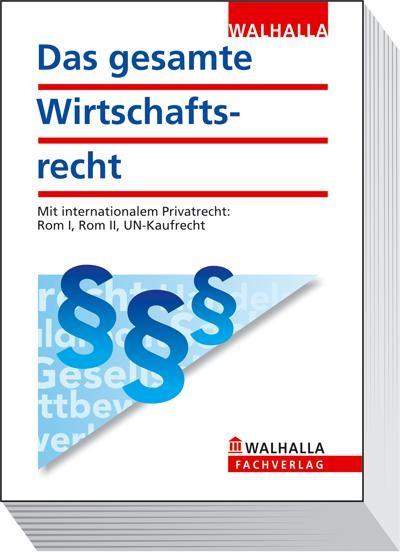 Das gesamte Wirtschaftsrecht | Buch (Cover)