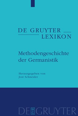 Abbildung von Schneider   Methodengeschichte der Germanistik   2009