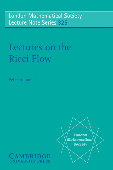 Abbildung von Topping | Lectures on the Ricci Flow | 2006