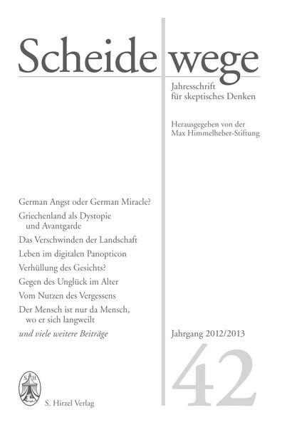 Scheidewege | / Sauer, 2012 | Buch (Cover)