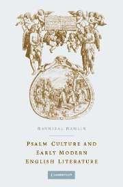 Abbildung von Hamlin | Psalm Culture and Early Modern English Literature | 2004
