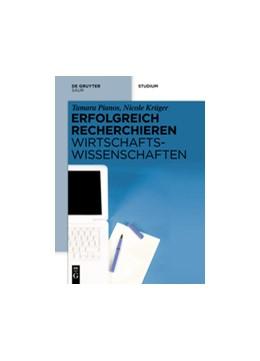 Abbildung von Pianos / Krüger | Erfolgreich recherchieren - Wirtschaftswissenschaften | 1. Auflage 2014 | 2014