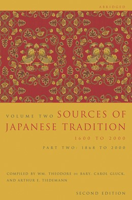 Abbildung von Howard   Sources of Japanese Tradition, Abridged   second edition   2006   1600 to 2000; Part 2: 1868 to ...