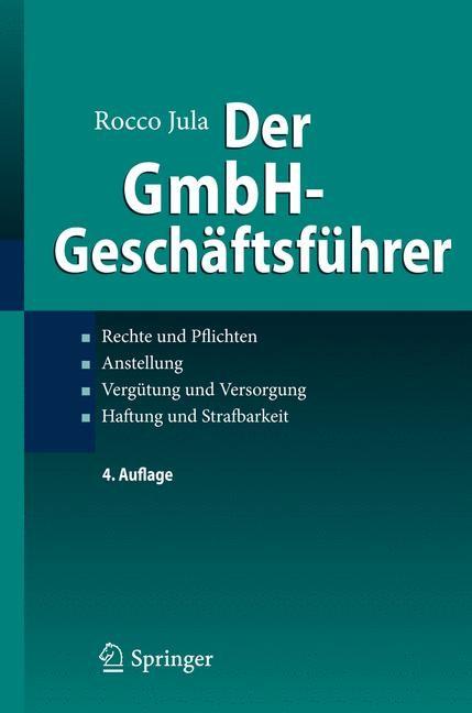 Der GmbH-Geschäftsführer   Jula   4. Auflage, 2013   Buch (Cover)
