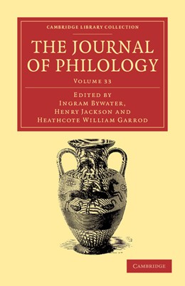 Abbildung von Garrod / Bywater / Jackson | The Journal of Philology | 2012