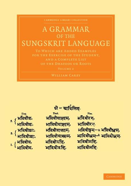 Abbildung von Carey | A Grammar of the Sungskrit Language | 2013