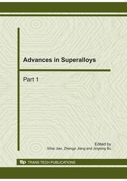Abbildung von Jiao / Jiang / Bu | Advances in Superalloys | 2011