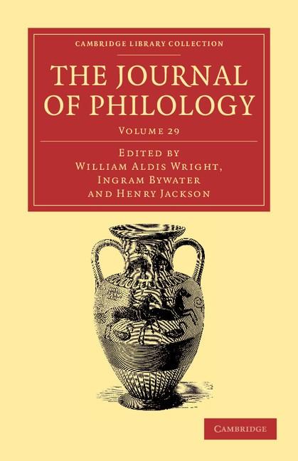 Abbildung von Wright / Bywater / Jackson | The Journal of Philology | 2012