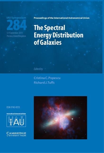 Abbildung von Tuffs / Popescu | The Spectral Energy Distribution of Galaxies – SED 2011 (IAU S284) | 2012