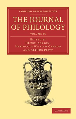 Abbildung von Garrod / Platt / Jackson | The Journal of Philology | 2012