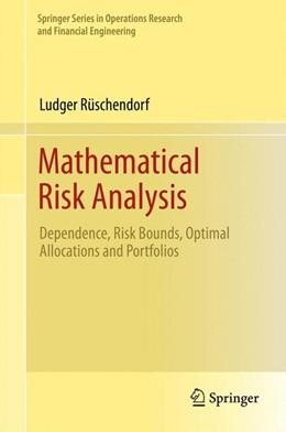 Abbildung von Rüschendorf | Mathematical Risk Analysis | 1. Auflage | 2013 | beck-shop.de