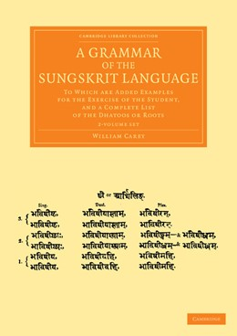 Abbildung von Carey | A Grammar of the Sungskrit Language 2 Volume Set | 2013 | To Which are Added Examples fo...