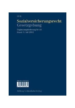 Abbildung von Imhof | Sozialversicherungsrecht - Gesetzgebung - 43. Ergänzungslieferung | Stand: 1. Juli 2012 | 2012 | 43