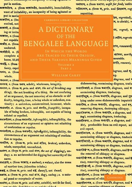 Abbildung von Carey | A Dictionary of the Bengalee Language | 2013