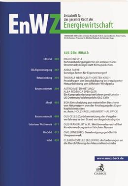Abbildung von EnWZ • Zeitschrift für das gesamte Recht der Energiewirtschaft | 8. Jahrgang | 2019