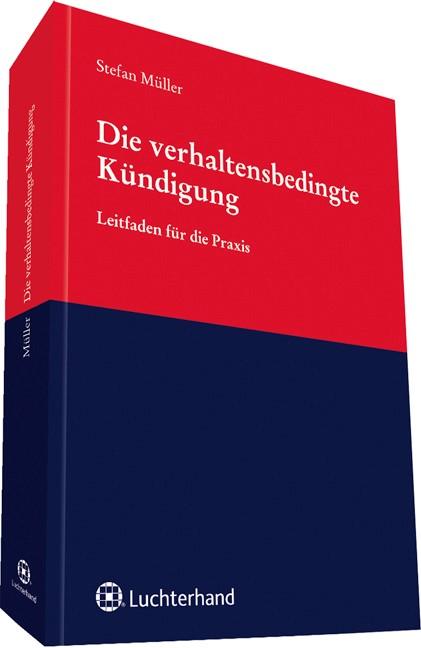 Abbildung von Müller | Die verhaltensbedingte Kündigung | 2013