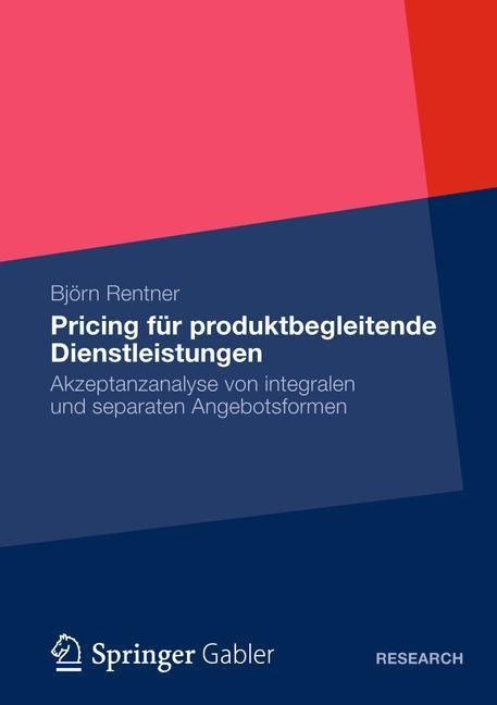 Pricing für produktbegleitende Dienstleistungen | Rentner, 2012 | Buch (Cover)