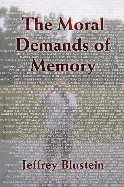Abbildung von Blustein   The Moral Demands of Memory   2008