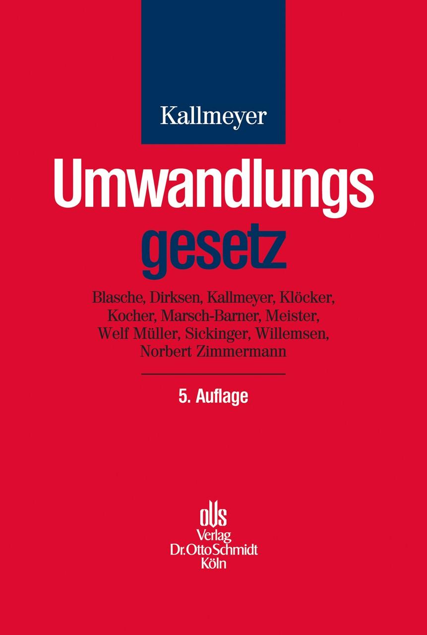 Umwandlungsgesetz | Kallmeyer | 5., neu bearbeitete und erweiterte Auflage, 2013 | Buch (Cover)