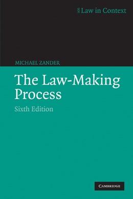 Abbildung von Zander | The Law-Making Process | 6th edition | 2004