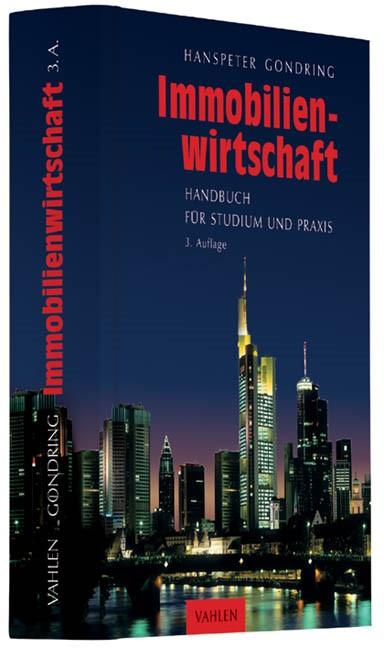Immobilienwirtschaft | Gondring | 3., vollständig überarbeitete Auflage, 2013 | Buch (Cover)