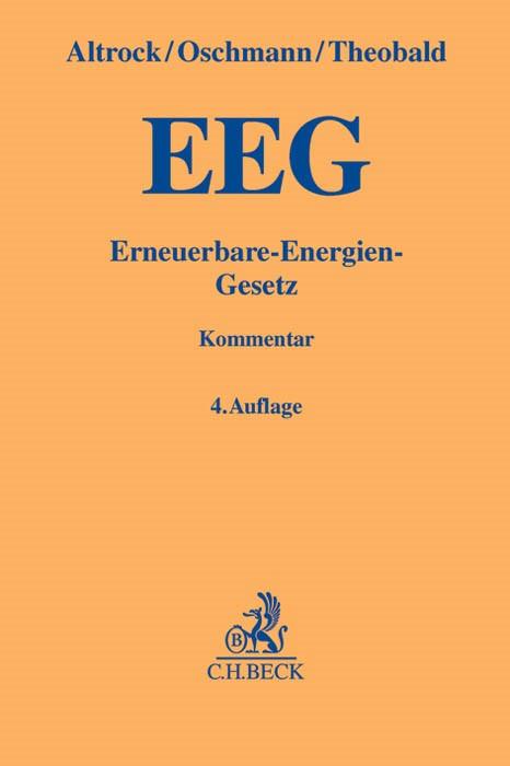 EEG | Altrock / Oschmann / Theobald | 4. Auflage, 2013 | Buch (Cover)