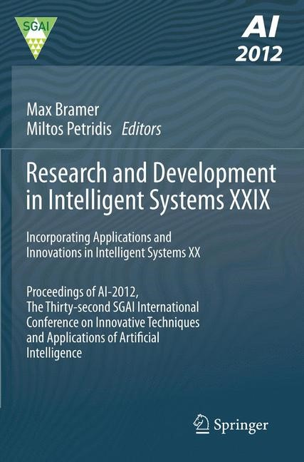 Research and Development in Intelligent Systems XXIX | Bramer / Petridis, 2012 | Buch (Cover)