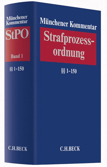Münchener Kommentar zur Strafprozessordnung: StPO, Band 1: §§ 1-150 StPO   Buch (Cover)