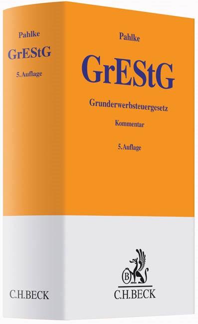 Grunderwerbsteuergesetz: GrEStG | Pahlke | Buch (Cover)