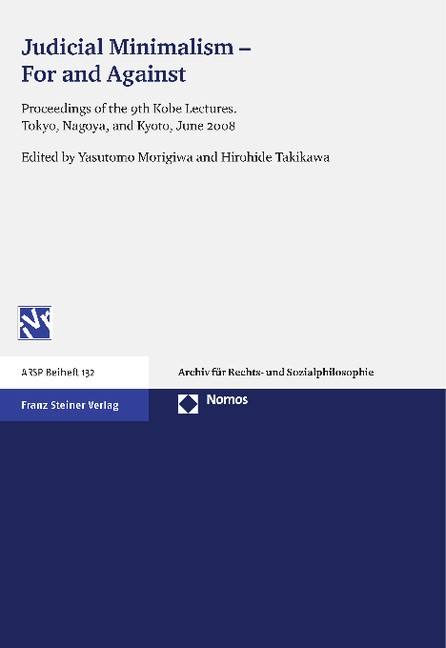 Judicial Minimalism - For and Against | Morigiwa / Takikawa, 2012 | Buch (Cover)