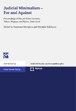 Abbildung von Morigiwa / Takikawa | Judicial Minimalism - For and Against | 2012 | Proceedings of the 9th Kobe Le... | 132