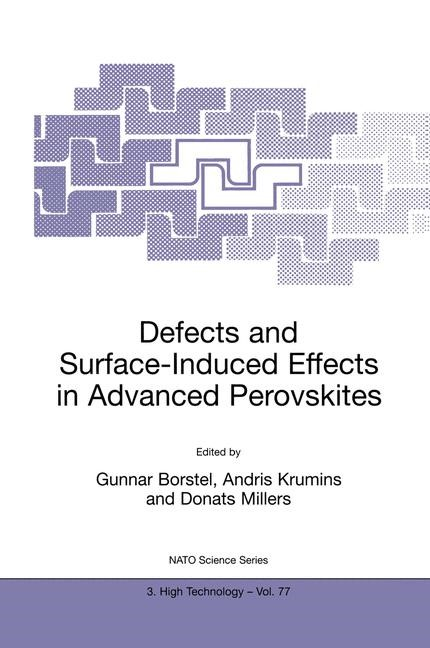 Defects and Surface-Induced Effects in Advanced Perovskites | Borstel / Krumins / Millers, 2000 | Buch (Cover)