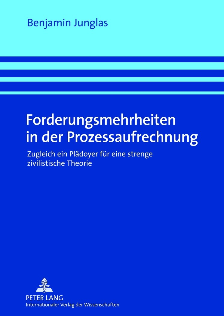 Forderungsmehrheiten in der Prozessaufrechnung | Junglas, 2012 | Buch (Cover)