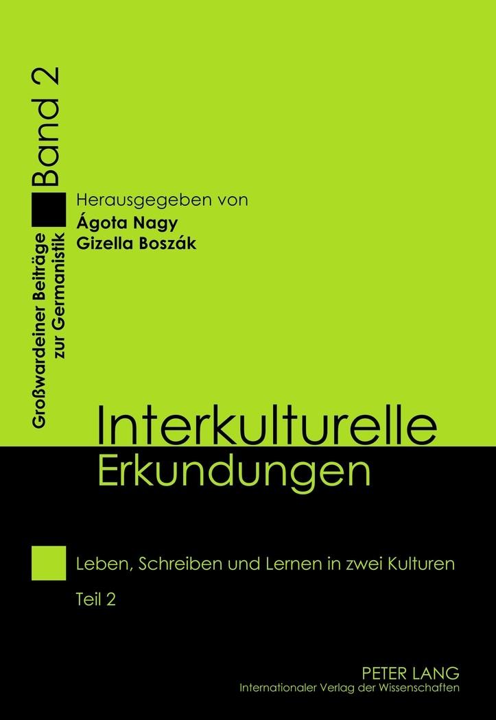 Interkulturelle Erkundungen   Boszák / Nagy, 2012   Buch (Cover)