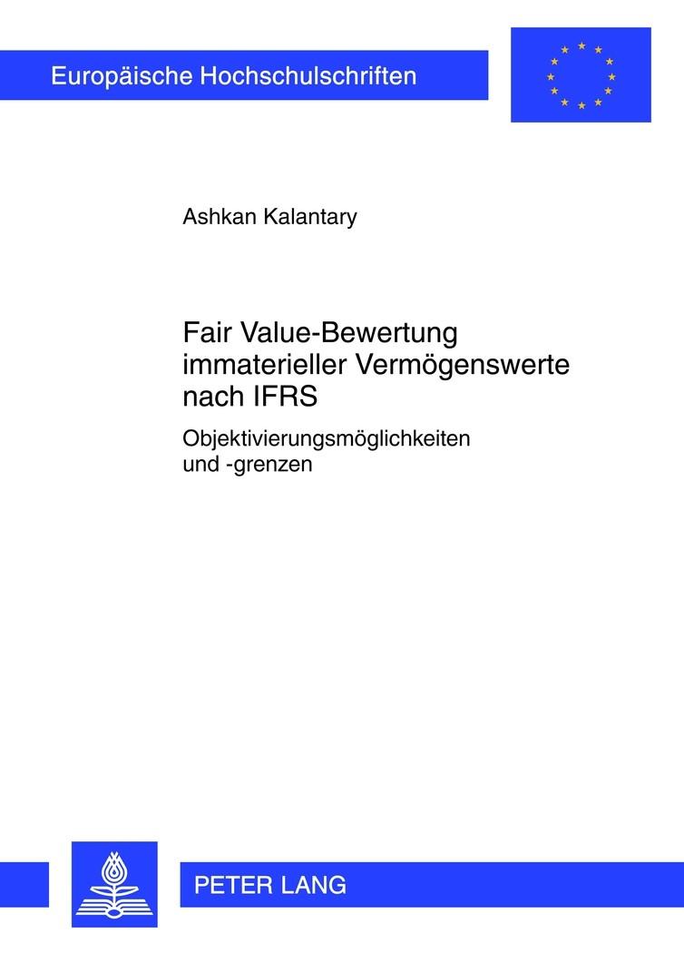 Fair Value-Bewertung immaterieller Vermögenswerte nach IFRS   Kalantary, 2012   Buch (Cover)