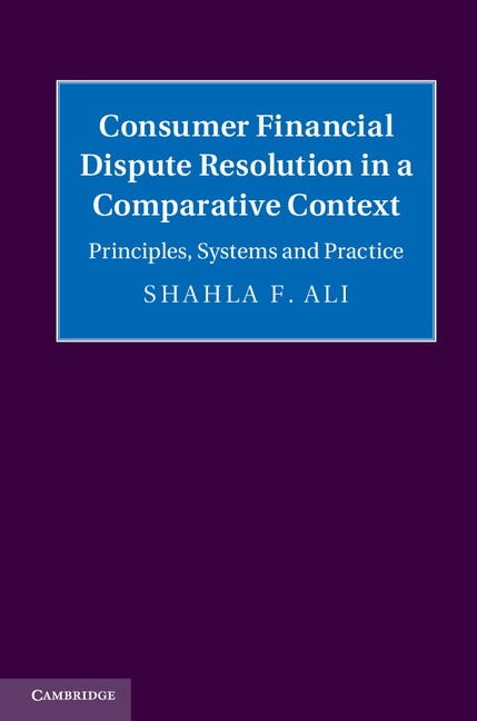 Abbildung von Ali | Consumer Financial Dispute Resolution in a Comparative Context | 2013
