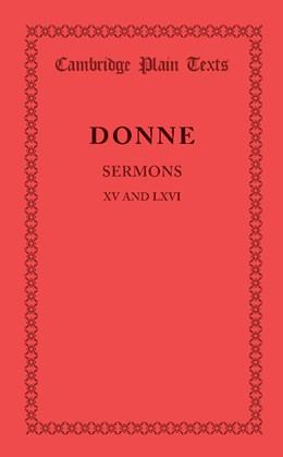 Abbildung von Donne   Sermons XV and LXVI   2013