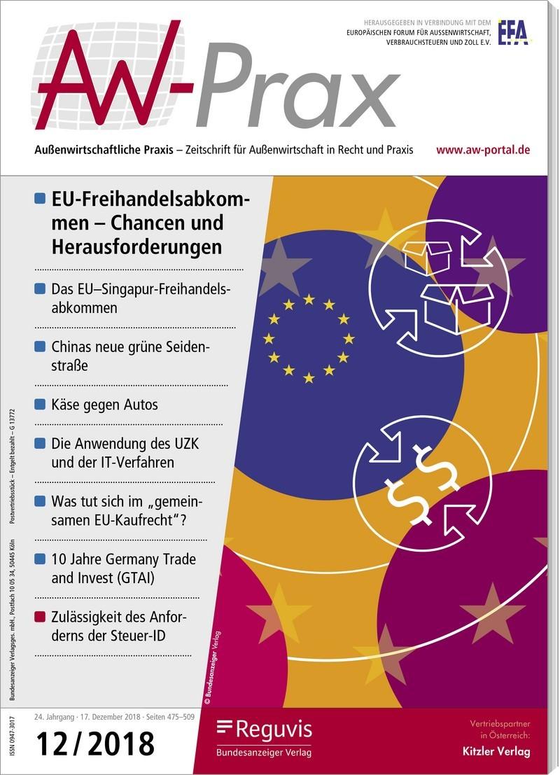 AW-Prax • Außenwirtschaftliche Praxis | 23. Jahrgang (Cover)