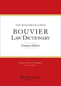 Abbildung von Sheppard | The Wolters Kluwer Bouvier Law Dictionary | 2012 | Compact edition