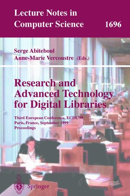 Research and Advanced Technology for Digital Libraries | Abiteboul / Vercoustre, 1999 | Buch (Cover)