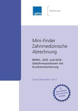 Abbildung von Kraus   Mini-Finder Zahnmedizinische Abrechnung   überarbeitet   2012   Bema-, GOZ- und GOÄ-Gebührenpo...
