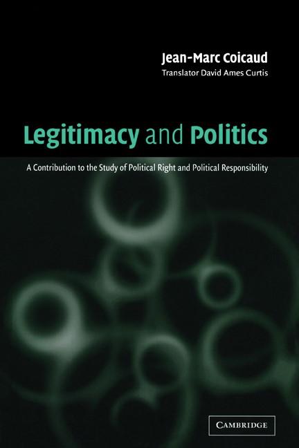 Abbildung von Coicaud | Legitimacy and Politics | 2002