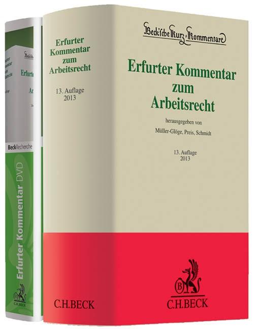 Erfurter Kommentar zum Arbeitsrecht: Buch + DVD 2013 | 13. Auflage, 2013 (Cover)